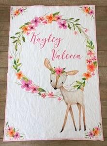 Girl Deer Nursery – Cute Baby Room - A More Crafty Life
