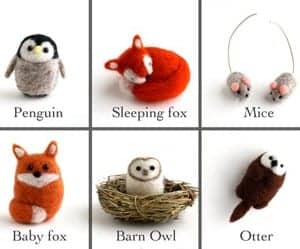 needle felted animal kit - DIY craft kits - gift ideas- creative gifts - arts and crafts activities - amorecraftylife.com