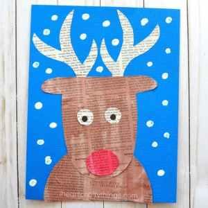 reindeer kid craft - rudolph kid craft - christmas kid craft - amorecraftylife.com #kidscraft #craftsforkids #preschool