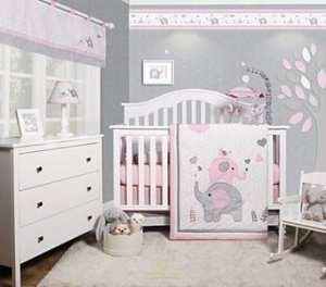 pink elephant nursery ideas - animal nursery - girl nursery theme - amorecraftylife.com #baby #nursery #woodland