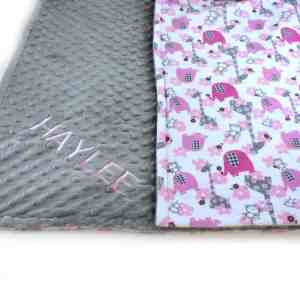 elephant baby blanket- elephant nursery ideas- girl nursery theme - animal nursery - amorecraftylife.com #baby #nursery #babygift #babygirl