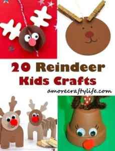 reindeer kid crafts - rudolph kid craft - christmas kid craft - amorecraftylife.com #kidscraft #craftsforkids #preschool