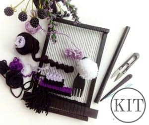 weaving loom kit - DIY craft kits - gift ideas- creative gifts - arts and crafts activities - amorecraftylife.com