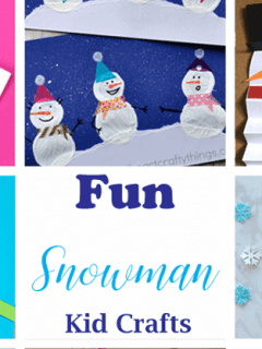 snowman kid crafts - arts and crafts activities -winter kid craft- amorecraftylife.com #kidscraft #craftsforkids #winter #preschool