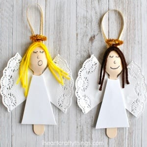 angel kid crafts - christmas kid crafts - arts and crafts activities - amorecraftylife.com #kidscraft #craftsforkids #christmas #preschool