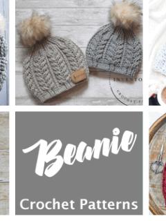 crochet beanie patterns - winter hat crochet patterns - crochet hat pattern pdf - amorecraftylife.com #crochet #crochetpattern