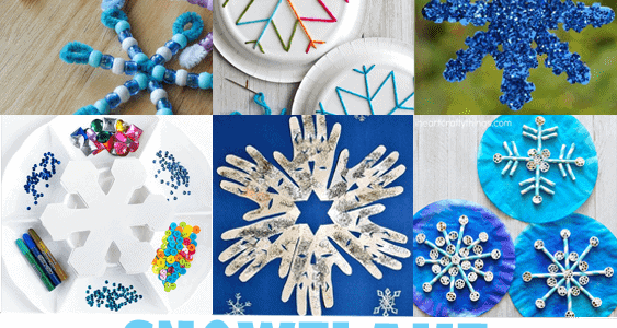 Snowflake Kid Crafts Winter Fun A More Crafty Life