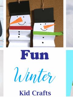 winter kid crafts - arts and crafts activities -winter kid craft- amorecraftylife.com #kidscraft #craftsforkids #winter #preschool