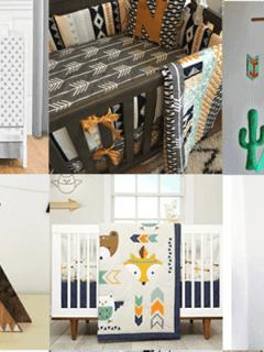 tribal nursery ideas- boy nursery theme - woodland nursery - amorecraftylife.com #baby #nursery #babygift #babyboy