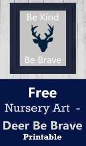 free nursery art - deer nursery -Woodland nursery idea - boy nursery theme - animal nursery - amorecraftylife.com #baby #nursery #babygift #woodland
