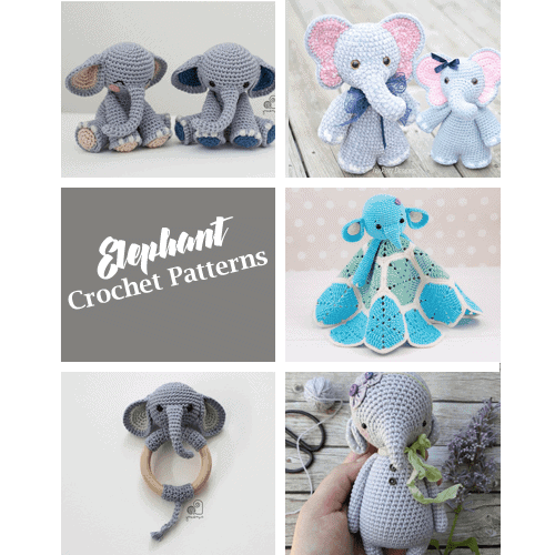 Elton the Elephant Free Crochet Pattern - Stuffed Hearts | 500x500