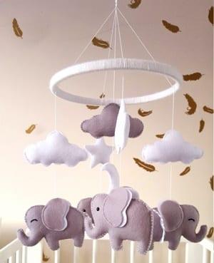 blue boy elephant nursery ideas - animal nursery - boy nursery theme - jungle theme - amorecraftylife.com #baby #nursery #babyboy