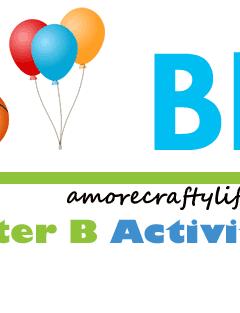 Letter B Activities - Preschool kid craft - amorecraftylife.com #preschool
