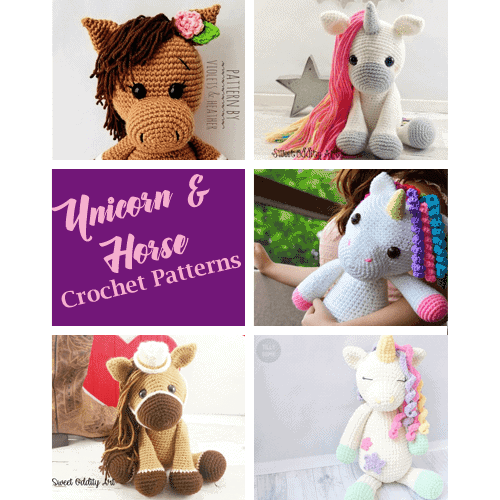 PATTERN (English Only): Hayley the Horse - Crochet Horse Pattern ... | 500x500