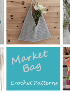 market bag crochet pattern- tote crochet pattern pdf - grocery bag - beach bag - amorecraftylife.com #crochet #crochetpattern