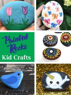 Rock Kid Crafts - rock painting - amorecraftylife.com #kidscrafts #craftsforkids #diy