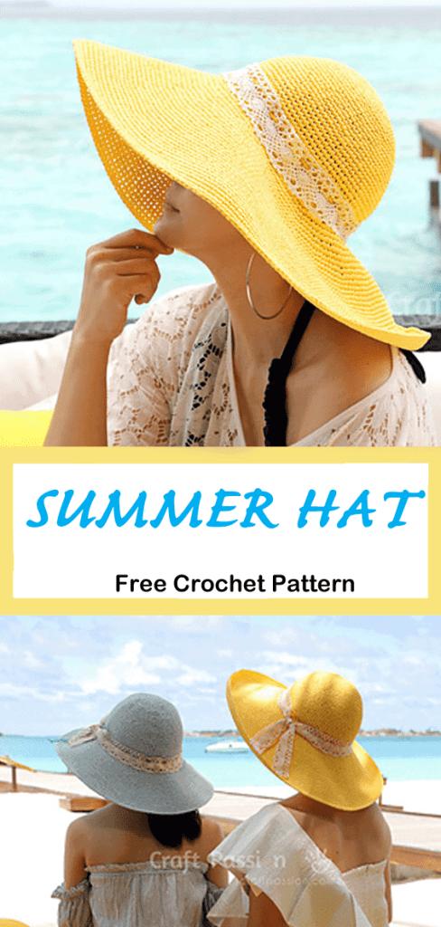 hat crochet pattern - free crochet pattern-  pattern pdf - amorecraftylife.com #crochet #crochetpattern #freecrochetpattern