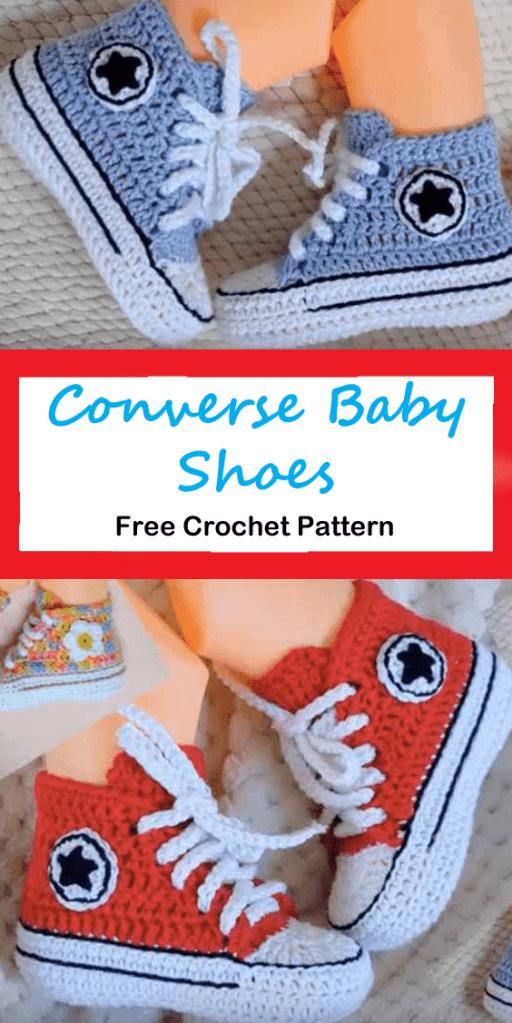 converse baby shoes blanket crochet pattern - amorecraftylife.com #baby #crochet #crochetpattern #freecrochetpattern