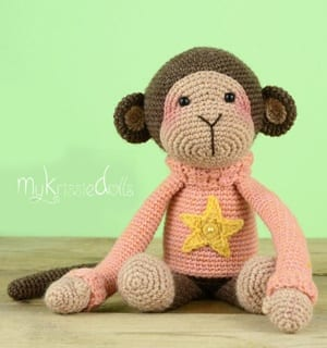 PATTERN: Monkey in the hood | Crochet monkey, Monkey pattern ... | 320x300