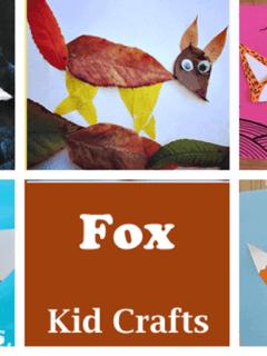 fox Kid Crafts- fall kid craft - woodland amorecraftylife.com #kidscrafts #craftsforkids #preschool