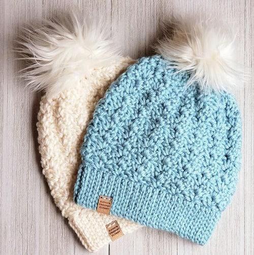 bulky hat crochet patterns- winter hat crochet pattern- bulky yarn - amorecraftylife.com #crochet #crochetpattern #diy