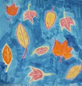 watercolor fall leaves kid crafts- fall kid craft - autumn kid craft - amorecraftylife.com #kidscrafts #craftsforkids #preschool #fall