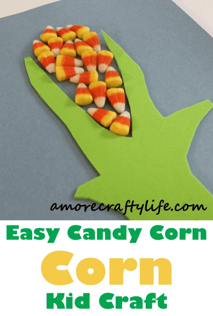 candy corn cob kid craft - fall kid craft - harvest kid craft - farm - amorecraftylife.com #kidscrafts #craftsforkids #preschool #fall
