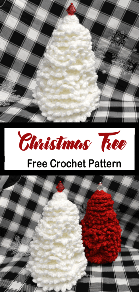 free crochet Christmas tree patterns - winter - home decor- amorecraftylife.com #crochet #crochetpattern #diy #christmas