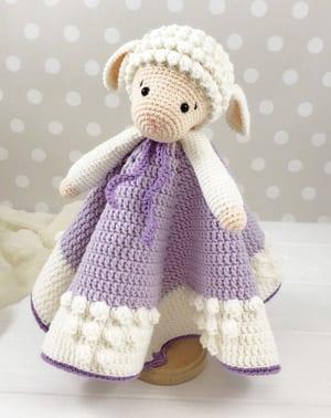 Crochet Lovey Patterns - security blanket crochet pattern - baby lovey crochet pattern- baby crochet pattern pdf - amigurumi amorecraftylife.com #crochet #crochetpattern #baby