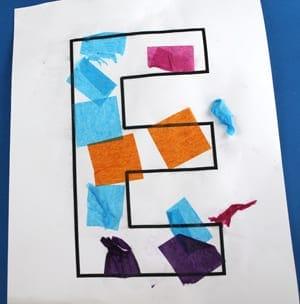 Crafts for Letter E – Activities Recipes More- Preschool kid craft - alphabet math reading -alphabet resources amorecraftylife.com #preschool #craftsforkids #kidscrafts