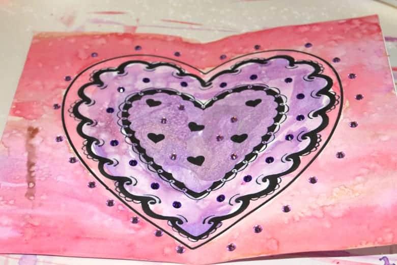 free heart printable valentine card - crafts for kids - valentine's day crafts for kids -amorecraftylife.com #craftsforkids #kidscrafts #preschool