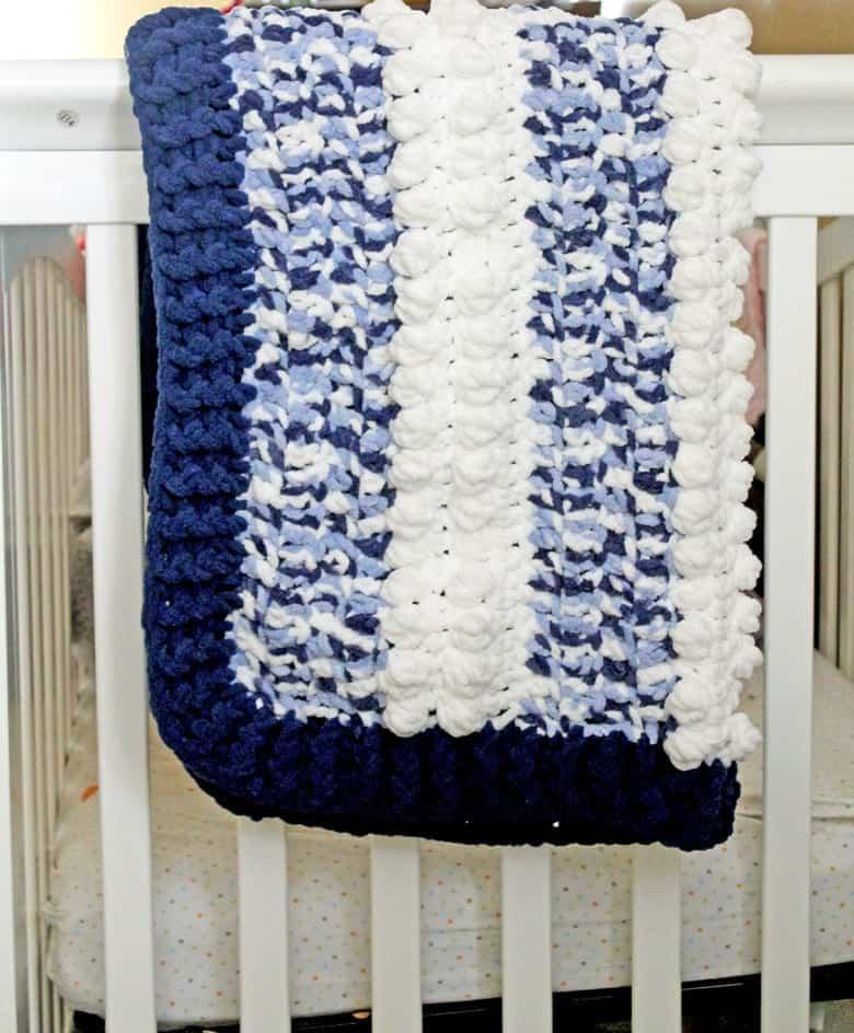 free blue dreams baby blanket crochet pattern - amorecraftylife.com - boy blanket #baby #crochet #crochetpattern #freecrochetpattern