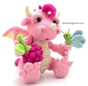20 Amigurumi Dragon Free Crochet Patterns (With images) | Crochet ... | 291x300