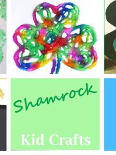 shamrock Crafts for kids- st Patrick's day kid craft - amorecraftylife.com #kidscrafts #craftsforkids #preschool