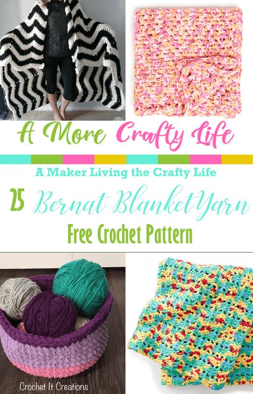 bernat blanket yarn crochet Patterns  -  free crochet pattern - #crochet #crochetpattern #diy #freecrochetpattern