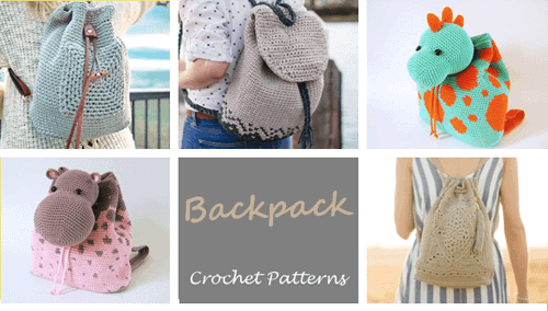crochet backpack pattern - purse crochet pattern - handbag crochet pattern - amorecraftylife.com #bag #crochet #crochetpattern