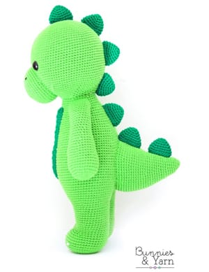 amigurumi dinosaur crochet patterns - crochet pattern pdf - amorecraftylife.com #crochet #crochetpattern #amigurumi