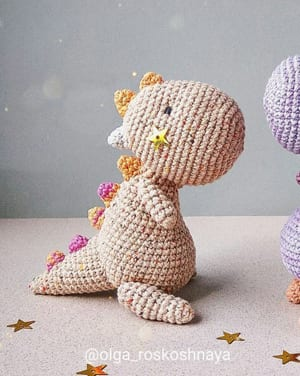 Adorable Amigurumi Dinosaur Softie Crochet Pattern | 376x300