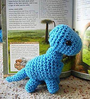 Make a cute stuffed dino toy. dinosaur crochet pattern - crochet pattern pdf - amorecraftylife.com #crochet #amigurumi #diy