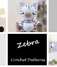 Crochet zebra Patterns - amigurumi - stuffed toy horse #crochet #crochetpattern #diy