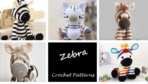 Crochet zebra Patterns - amigurumi - stuffed toy horse #crochet #crochetpattern #diy
