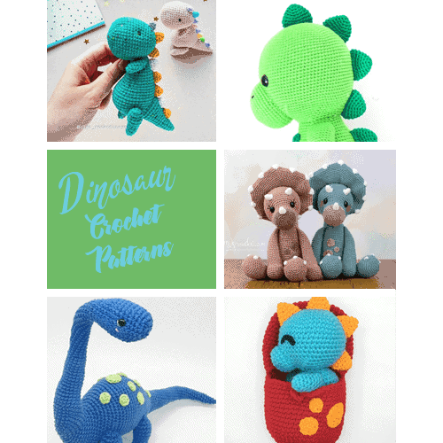 How to Crochet a Triceratops Dinosaur || Amigurumi Pattern ... | 500x500