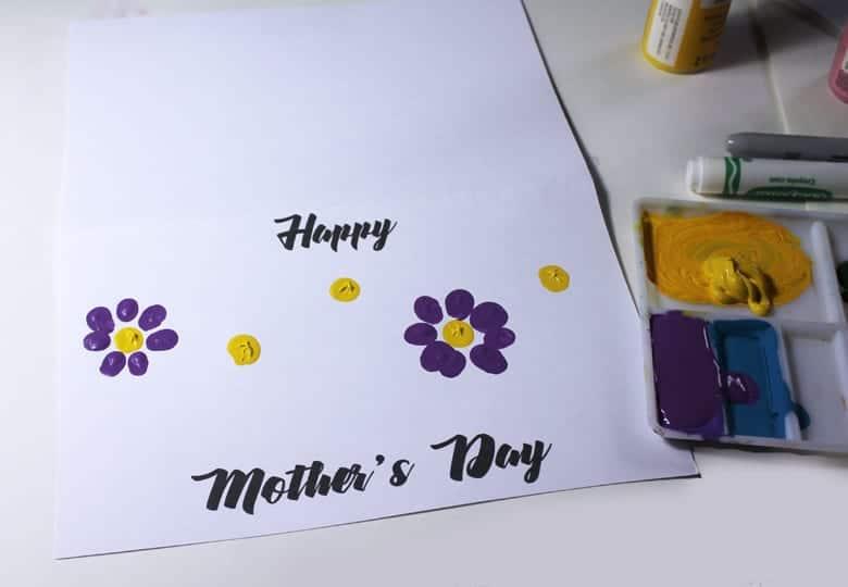 printable fingerprint mothers day card - kid crafts -handmade gift - amorecraftylife.com #kidscraft #craftsforkids #preschool