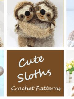 Crochet sloth Patterns - Cute Gifts - A More Crafty Life - stuffed toy sloth #crochet #crochetpattern #baby #amigurumi