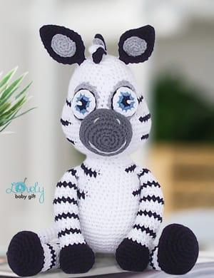 Crochet Zane the Zebra Amigurumi Free Pattern - #Amigurumi; #Zebra ... | 390x300