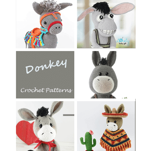 Amigurumi Cute Donkey Crochet Pattern » Amigurumi Crochet Patterns ... | 500x500