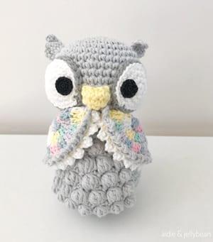 Amazon.com: Crochet Purple Owl Stuffed Animal - Plush Purple Owl ... | 341x300