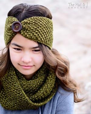 winter headband crochet pattern- ear warmer crochet pattern pdf - amorecraftylife.com #crochet #crochetpattern