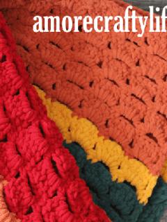 i love fall chunky blanket pattern - amorecraftylife.com -bernat blanket yarn blanket - afghan - free printable crochet pattern chunky blanket pattern #crochet #crochetpattern #freecrochetpattern