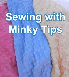 12 sewing tips for sewing with minky  - minky sewing how to #sewing